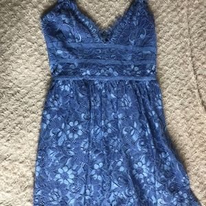 863e3d73580d NBD Dresses | Give It Up Lace Dress S Blue Fit Flare | Poshmark